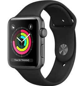 Apple Watch Series 3 черные 38 mm