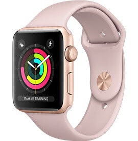Apple Watch Series 3 золотые 42 mm